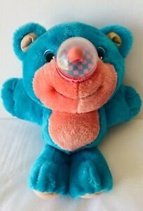NOSY BEARS Playskool Blue Pink Balloon Nose Soft Plush Toy VINTAGE 1987 28cm
