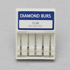 5pcs Dental Diamond Burs TC-09 Taper Conical End 1.6mm for High Speed Handpiece