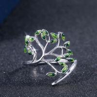 Beautiful Women 925 Silver Wedding Engagement Ring Peridot Ring Size 6-10