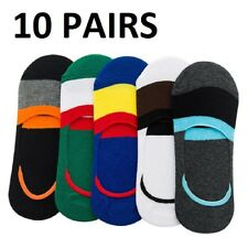 US 10 Pairs Men Cotton Invisible No Show Nonslip Loafer Boat Liner Low Cut Socks
