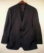 Michael Kors Men's Suit Solid Navy Blue Size 40R Two Button Wool (Linen-Look)
