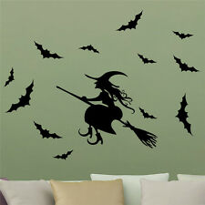 12pc Removable 3D Halloween Bats Wall Sticker Decal Car Home Party Decoration UA