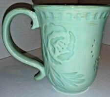 "5"" Fitz & Floyd Toulouse Green Flower Mug"