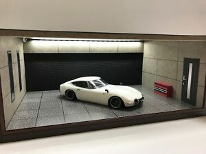 1/18 1:18 SCALE DIORAMA GARAGE DISPLAY ACRYLIC CASE W/ LED LIGHT MADE IN JAPAN ①