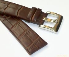 22mm BROWN Leather Band Strap Stainless Steel Heavy-Duty Buckle for MONTBLANC
