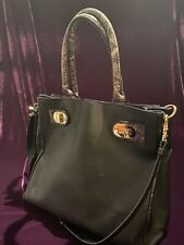BADGLEY MISCHKA LARGE SAFFIANO LEATHER TOP HANDLE SATCHEL & CROSS BODY STRAP