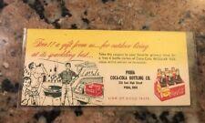 Vintage 1950s Coca Cola Coupon Piqua, Ohio