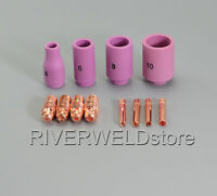 TIG KIT Alumina Nozzles, Collet Bodies & TIG Welding Torch WP-9 WP-20 WP-25 12PK
