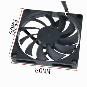 80mm 8cm 5V USB DC Brushless Cooling Fan 80x80x10mm For Computer Case PC Cooling