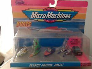 MICRO MACHINES. VINTAGE CLASSIC CRUISIN' BOATS, LIMITED ED. 64000, RARE SEALED