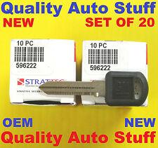 2 Boxes OEM Set Of 20 20X 95-99 GM Non-Transponder Key Blanks Strattec # 596222