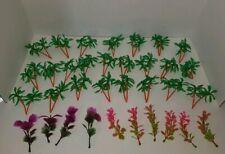 Lot of 34 Fish Tank Plastic Trees Plants Greenery Decorations