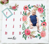 Digital Photography Blanket Background Cloth Baby Milestone Month Creative New18