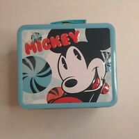 Mickey Mouse Disney Lunch Box with Peppermints by Loungefly Metal Tin Blue