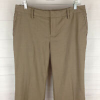 Gap womens size 10 stretch brown flat front mid rise bootcut dress trouser pants