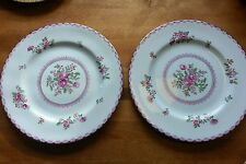 Set of 2 Crown Staffordshire Dinner Plates Pattern A5782 Pink Roses