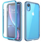 For iPhone XR Case, SUPCASE [UB Electro] Clear Plating Cover w/ Screen Protector