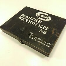 Vintage Corbin Master Keying Kit Locksmith Set 53 Metal Case