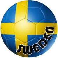 decal sticker car bumper flag team soccer ball foot football sweden