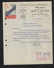 "REIMS (51) GARAGE CONCESSIONNAIRE FORD ""ODINOT & PETITBON"" Pneu GOODRICH en 1929"