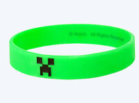 Minecraft Green Creeper Face rubber Bracelet Wristband Licensed Large Size L