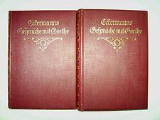 2 Bände Johann Peter Eckermann Gespräche mit Goethe in den letzten Jahren