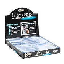 400 ULTRA PRO PLATINUM 4-POCKET Pages 3 x 5 Sheets Protectors Brand New in Box