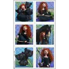 Brave Movie Disney Princess Merida Kids Birthday Party Favor Sticker Sheets