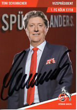 Autogramm - Toni Schumacher (1. FC Köln) - 2017/2018 - Neu in Winterpause