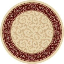 Universal Rugs  Elegance  Beige 7 Ft. 10 In. Round Transitional Area Rug NEW
