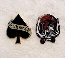 Lemmy, Motorhead Pin Badges, Rock, Heavy Metal, Biker, Hells Angels, Alchemy etc