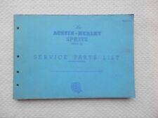 AUSTIN HEALEY SPRITE MKII Genuine BMC Parts List ref AKD1763 2nd Edition