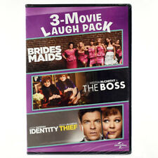 Bridesmaids + The Boss + Identity Thief  3-Movie Laugh Pack DVD *Factory Sealed