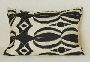 Opalhouse Jungalow Black & Tan Geo Print Quilt Stitch Standard Pillow Sham Boho