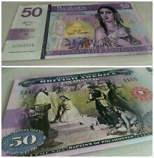 Mujand £50 Pocahontas Polymer Test Private Fantasy banknote specimen note