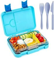 Bento Box for Kids On-The-Go Children Lunch Box with 4 + 2 Compartments Durable