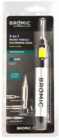 Bromic 3 in 1 Butane Micro Torch SOLDERING IRON Adjustable Heat