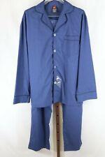 Hanes Mens Blue 2 Piece Woven Pajama Set Size Small NEW