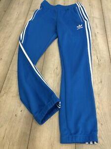 RETRO ADIDAS TRACKSUIT BOTTOMS SIZE SMALL BLUE