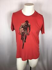 Heavy Rotation Label TShirt Made in USA. Red Man With Handlebar Mustache.vintage