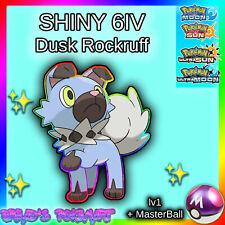SHINY 6IV Dusk Rockruff lv1 +MasterBall / Pokemon Ultra Sun Ultra Moon 3DS