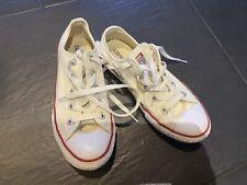Girls White Converse, Size 1