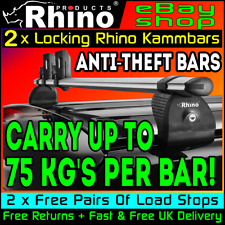 Peugeot Expert Roof Rack Bars x2 Locking Anti-Theft Rhino L1-COMPACT 2016-2020