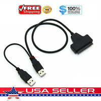 USB 2.0 to 2.5inch HDD 7+15pin SATA Hard Drive Cable Adapter For SATA SSD & HDD
