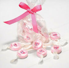 NEW PINK & WHITE IT'S A GIRL ROCK SWEETS BABY SHOWER GIRL STRAWBERRIES & CREAM