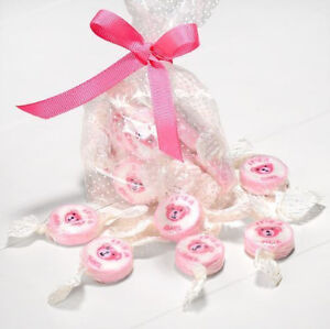 GORGEOUS TASTING PINK & WHITE IT'S A GIRL ROCK SWEETS BABY SHOWER GIRL PARTY