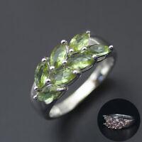 color change diaspore 925 sterling silver leaf ring for women size 6 7 8 9 10