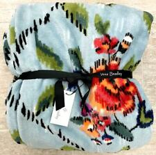 "Vera Bradley 50"" x 80"" PLUSH THROW BLANKET in ""Water Bouquet"" Soft Fleece NWT"
