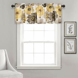 Leah Floral Room Darkening Window Curtains Panel