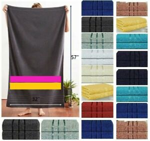 2 Piece Luxury LARGE Bathroom TOWELS BATH SHEETS Soft EGYPTIAN Style Cotton Bale